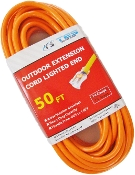 14 Gauge 50 Ft. SJTW Orange Cord