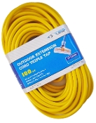 10 Gauge 100 Ft. Triple Tap SJTW Yellow Cord